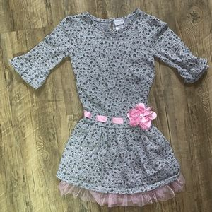 Sweet Heart Rose Gray Sparkly Dress - Size 6